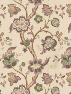 Roslyn , a feature wallpaper from Sanderson, featured in the Vintage Wallpapers collection.
