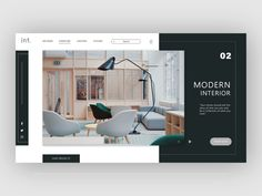 Interior architecture Website Landing page design Portfolio Design Layouts, Page Layout Design, Landing Page Design, Web Layout, Corporate Design, Architecture Portfolio, Interior Architecture, Webdesign Layouts, Minimal Web Design