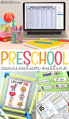 Create a well organized preschool classroom with my FREE curriculum outline!