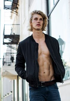 Chuck Bilgrien — male models. blonde hair. abs. aesthetic. character inspiration. grunge.