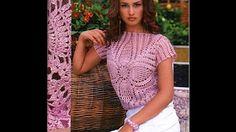 Вязание крючком: кофта-сетка мастер класс. Crochet grid sweater with subtitles - YouTube