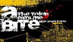 Grunge urban eroded fonts free download