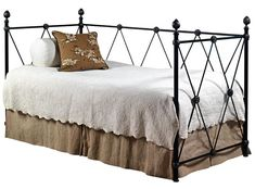 Custom Design Iron and Metal Beds Diamante Metal Daybed by Old Biscayne Designs
