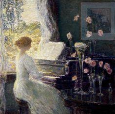 Frederick Childe Hassam - The Sonata (1911)