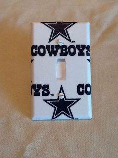 Dallas Cowboys  Light Switch Cover by grannyharper on Etsy https://www.etsy.com/listing/194946447/dallas-cowboys-light-switch-cover