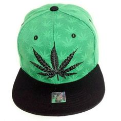 Addicted Cannabis Weed Leaf Caps Mens Hip Hop Vintage Snapbacks Screen-Print Unisex Strapback Hat
