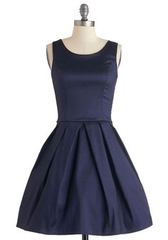 Meant to Bijou Dress in Navy. Your navy dress by Fleet Collection, which gleams with the brilliance of rare gems, was meant for this exquisite occasion. #blue  #modcloth