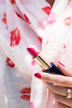 The perfect lipstick for summer (and the rest of the year): Tumultous Pink. It's a bright color that's flattering on all skin tones, stays put, plus has a super-hydrating formula. What more could you want in a lipstick?