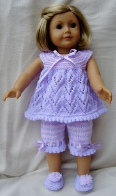 http://www.ravelry.com/patterns/library/american-girl-doll-cream-of-the-crops-pjs-or-playtime-sets