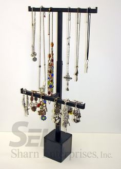 Point of Purchase Design | POP | POSM | POS | Adjustable Hanging Jewelry Steel Counter Display by Sharn Enterprises www.sharndisplays.com