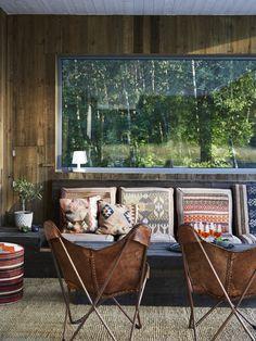 and LA-feelings to it Cabin Interiors, Rustic Interiors, Mug Decorating, Southwestern Decorating, Kitchen Living, Elle Decor, Living Room Interior, Scandinavian Style, Room Inspiration