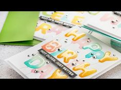 In this video, I'm sharing how to quickly stamp colorful Birthday cards using MFT Pumped Up Alphabet stamp set. Birthday Wishes, Birthday Cards, Happy Birthday, Cupcake Card, Alphabet Stamps, Pretty Pink Posh, Colorful Birthday, Mft Stamps, Birthday