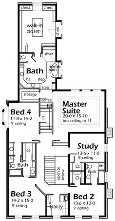 House Plans by Korel Home Designs   Like this one, too, but for the 2nd floor master