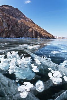 Baikal Lake, in #Siberia, #Russia is the deepest lake in the world and becomes a gorgeous spot in winter when is frozen.