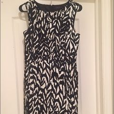 New dress, size 4 with tags, from The Limited. Brand new dress from The Limited.  Size 4, with tags.  Gorgeous black and white print.  Purchased for work and then accepted a work from home position.  Would look great with black and any color bright colored heels to give the look a pop.  Great addition to your wardrobe! The Limited Dresses Midi