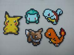 Small Perler Bead Sprites - Pokemon. $3.50, via Etsy.