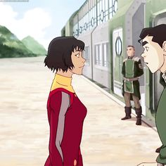"Opal and Bolin. Is he saying ""Hey babe""? Cuz that's so Bolin it's friggin adorable<"