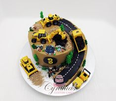 Construction site cake - by Cynthia Jones @ CakesDecor.com - cake decorating website