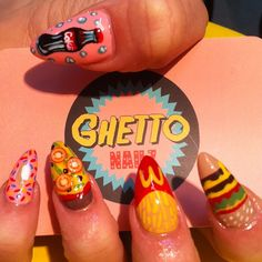fast food nails #ghettoNailz
