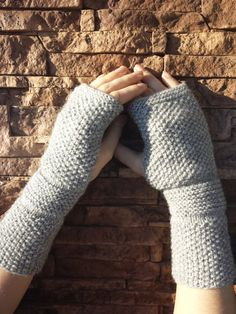 Knit wrist warmers Fingerless gloves Mittens by SoftKnitsHome