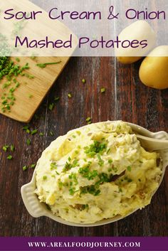 How to make amazing Sour Cream and Onion Mashed Potatoes! Creamiest, best mashed potatoes ever!