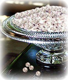 LUXURY ITEMS. Edible sugar diamonds - living a glamorous life.