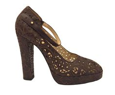 Biba Brown Leather Pumps with Intricate Cut-Outs, IT 39 Circa 1970 — Shop for Designer Fashion at Curated Luxe LLC
