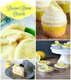 Do you love some yummy lemon goodness? Tell me about, I love it a bit too much, that's why you're gonna love these Luscious Lemon Desserts! Delicious Cake Recipes, Yummy Cakes, Yummy Treats, Sweet Treats, Dessert Recipes, Fun Recipes, Lemon Recipes, Family Recipes, Dessert Ideas