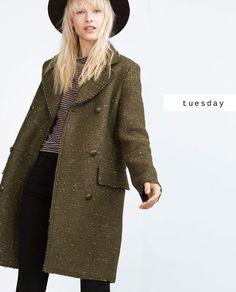 #zaradaily #tuesday #trf #coat #tshirt #trousers #hat