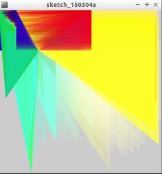 He dibujado  un triangulo, luego he hecho que el triangulo se mueva, y que cambie gradualmente el color, he usado la función sin(), logrando que cambiara de forma, y he seguido experimentando.   He logrado que cambie de color, poniendo mouseX  y mouseY, en la función fill()  Cambia su forma gracias a que he utilizado la función triangle.    He logrado que cambie de color, poniendo mouseX  y mouseY, en la función fill()  Cambia su forma gracias a que he utilizado la función triangle.