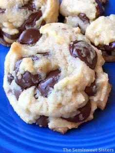 Thick Dark Bittersweet Chocolate and Semisweet Chocolate Chip Cookies