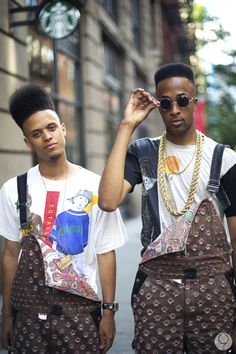 Just awesome. Bring back 90s black fashion. The Fresh Prince haircut is back already. Kick it up a notch.