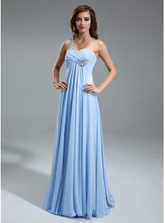 Special Occasion Dresses - $146.99 - Empire One-Shoulder Floor-Length Chiffon Holiday Dress With Ruffle Beading  http://www.dressfirst.com/Empire-One-Shoulder-Floor-Length-Chiffon-Holiday-Dress-With-Ruffle-Beading-020025949-g25949