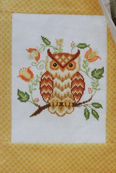 Cozy Owl Cross-Stitch Must find this pattern! Cross-Stitch & Needlework Magazine (Nov 2012 issue)