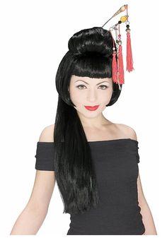 China Girl Wig - Adult Geisha Girl Costume Wig