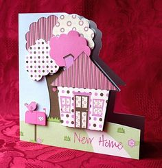 House & Trees card