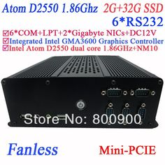 201.00$  Buy now - http://aliqsz.shopchina.info/1/go.php?t=1284634555 - top rated desktop computers 2013 with 6 COM Intel D2550 dual core GMA36001.86Ghz NM10 2 RTL8111E Gigabyte Nic 2G RAM 32G SSD 201.00$ #magazineonlinewebsite
