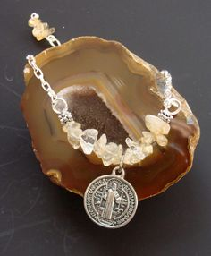 Citrine Abundance Bracelet coupled with St by ParanormalProtection, $20.00