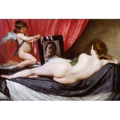 """Astoria Grand 17th 'The Rokeby Venus' by Diego Velazquez Oil Painting Print Poster Size: 49"""" H x 72"""" W"""