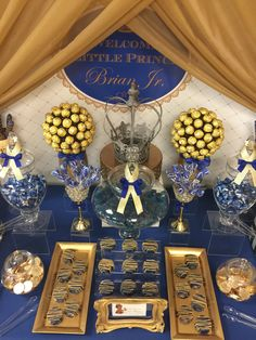 Royalty Blue Gold Birthday Party Ideas Prince Party Ideas