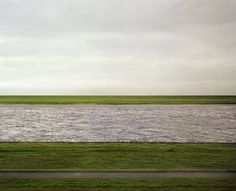 Andreas Gursky Rhein II Completely subverting all our expectations of what a landscape is.