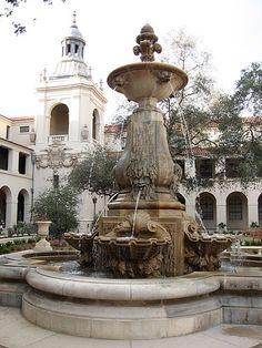 Courtyard of Pasadena City Hall, Pasadena, California, USA