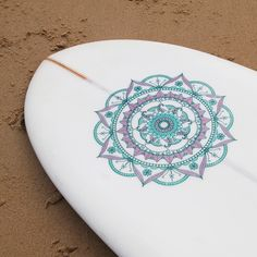 Mega Mandala Board Sticker- Lilac and Mint #girlzactive #surfboard