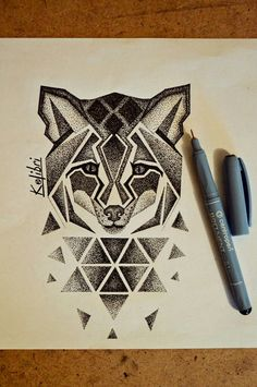 #art #sketch #tattoo #tattoos #tattooed #ink #inked #Kolibri #ByKolibri #ArtByKolibri #2017 #тату #рисунок #эскиз #dotwork #fox #geometry #лиса #дотворк