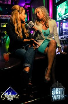 Dirty Water's Morgan Chase interviewing Aubrey O'Day