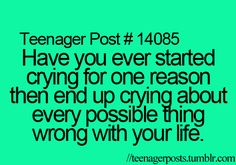 Not me.... but when it comes to all my friends in school they can all sometimes be little drama queens exept for Andrea and Elise! They are like the strongest people I know.<3