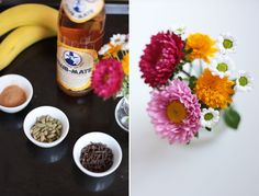 Some flowers & some good drinks! Mate Chai Smoothie! Click for the recipe!