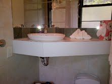 Moon Dance Perch is a custom built modern cabin accommodation offering privacy, full amenities, and fully accessible for the handicapped. Counter, Sink, Budget, Handle, Internet, The Unit, Bathroom, Bath Room, Vessel Sink