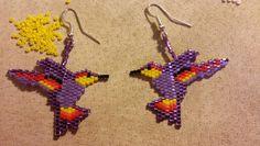 Hummingbird design earrings