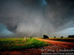 The EF5, 2.6 mile wide El Reno, Oklahoma Tornado on 05/31/13, picture taken by Tony Laubach. I hate this tornado with a burning passion.